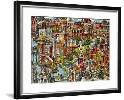 Cat City-Bill Bell-Framed Giclee Print