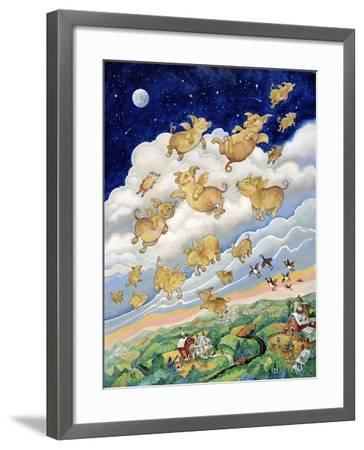If Pigs Could Fly-Bill Bell-Framed Giclee Print