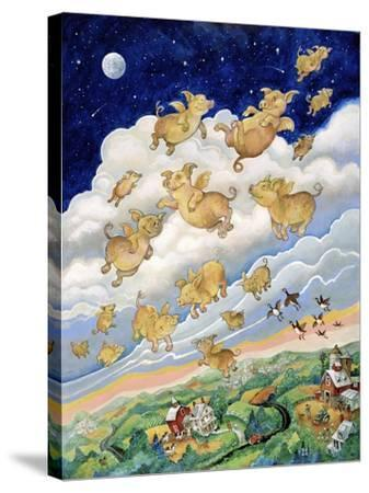 If Pigs Could Fly-Bill Bell-Stretched Canvas Print