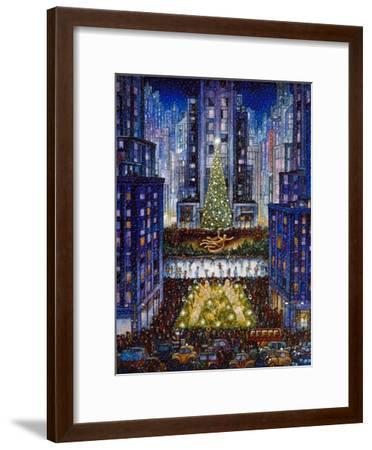 Rockefeller Center 2 Blue-Bill Bell-Framed Premium Giclee Print