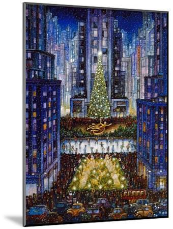 Rockefeller Center 2 Blue-Bill Bell-Mounted Premium Giclee Print