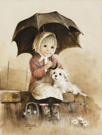Little Girl-Dianne Dengel-Framed Giclee Print
