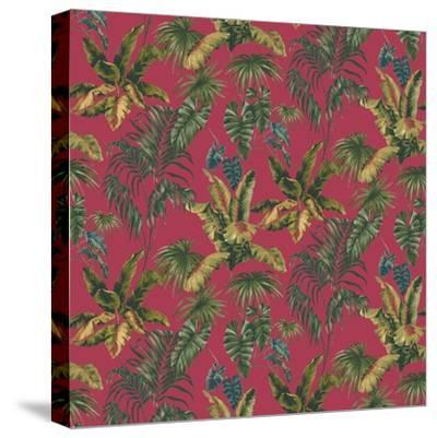 Tropic Toile Tomato-Bill Jackson-Stretched Canvas Print