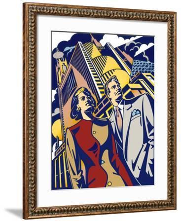 Business Couple-David Chestnutt-Framed Giclee Print