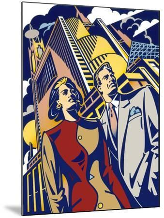 Business Couple-David Chestnutt-Mounted Giclee Print