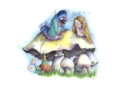 Alice and the Caterpillar-Emma Graham-Framed Giclee Print