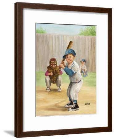 Baseball-Dianne Dengel-Framed Giclee Print