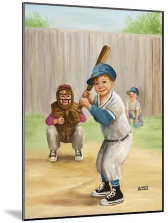 Baseball-Dianne Dengel-Mounted Giclee Print