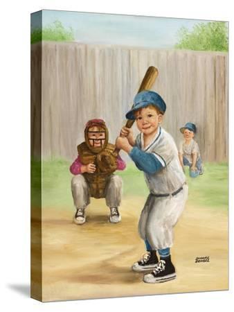 Baseball-Dianne Dengel-Stretched Canvas Print