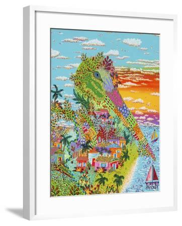 Pelican Miracle-Debra Denise Purcell-Framed Giclee Print