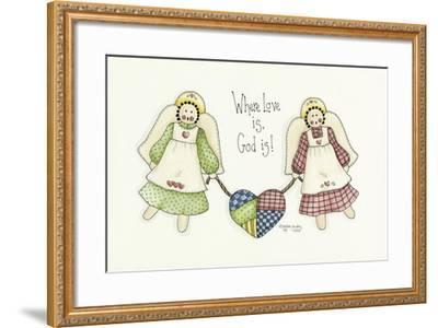 Where Love Is Angel-Debbie McMaster-Framed Giclee Print