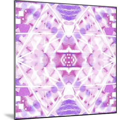 Pink and Purple Abstract-Deanna Tolliver-Mounted Giclee Print