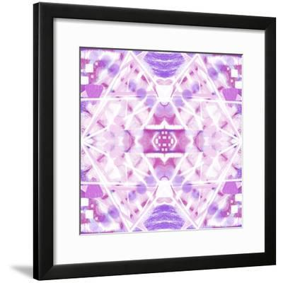 Pink and Purple Abstract-Deanna Tolliver-Framed Giclee Print