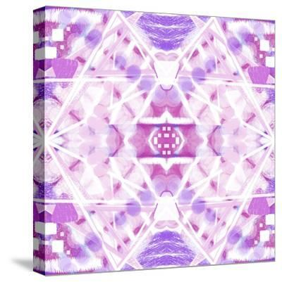 Pink and Purple Abstract-Deanna Tolliver-Stretched Canvas Print