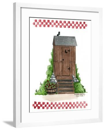Wooden Outhouse-Debbie McMaster-Framed Giclee Print