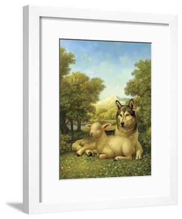 Wolf Lies Down with the Lamb-Dan Craig-Framed Giclee Print