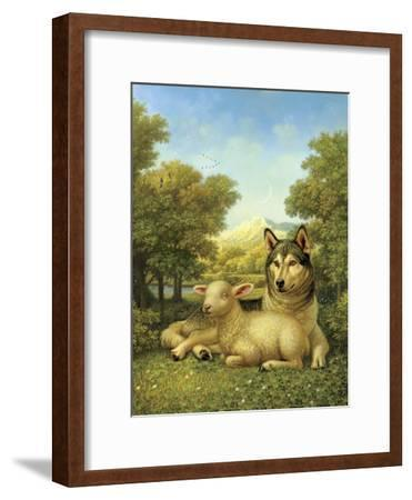 Wolf Lies Down with the Lamb-Dan Craig-Framed Giclee Print