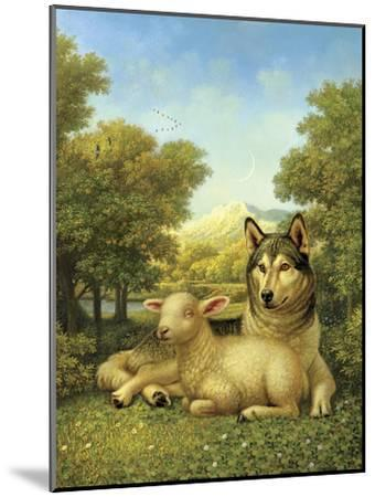 Wolf Lies Down with the Lamb-Dan Craig-Mounted Giclee Print