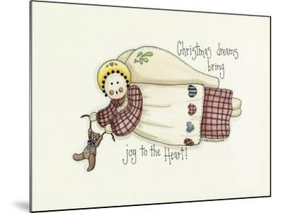 Christmas Dreams Angel-Debbie McMaster-Mounted Giclee Print
