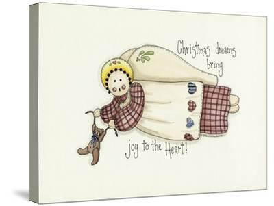 Christmas Dreams Angel-Debbie McMaster-Stretched Canvas Print