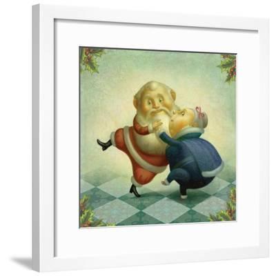 Dancing Santa and Mrs.-Dan Craig-Framed Giclee Print