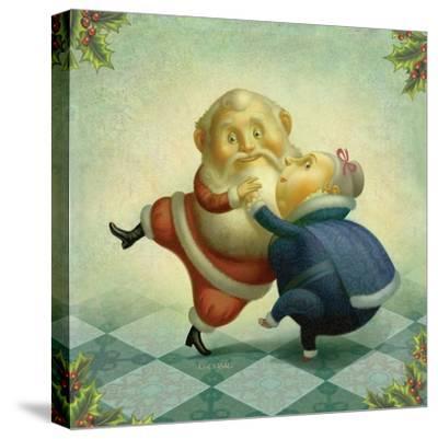 Dancing Santa and Mrs.-Dan Craig-Stretched Canvas Print