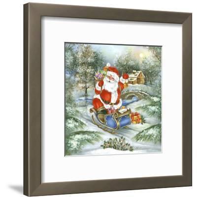 Santa-DBK-Art Licensing-Framed Giclee Print