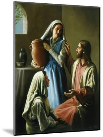 Mary and Martha-David Lindsley-Mounted Premium Giclee Print