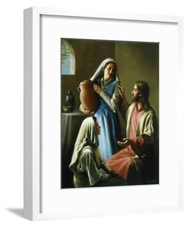 Mary and Martha-David Lindsley-Framed Giclee Print