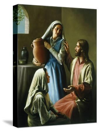 Mary and Martha-David Lindsley-Stretched Canvas Print