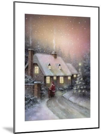Santa-DBK-Art Licensing-Mounted Giclee Print