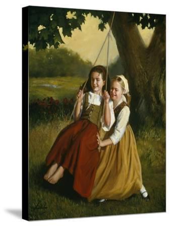 Friendship-David Lindsley-Stretched Canvas Print