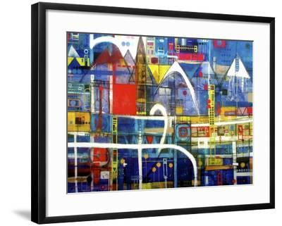 Driving to Wanaka-David Spencer-Framed Giclee Print