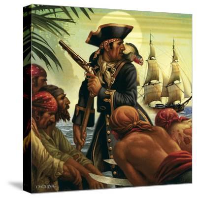 Treasure Island-Dan Craig-Stretched Canvas Print