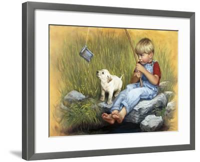 Fishing Blues-David Lindsley-Framed Giclee Print