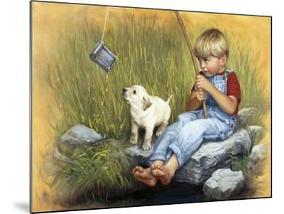Fishing Blues-David Lindsley-Mounted Giclee Print