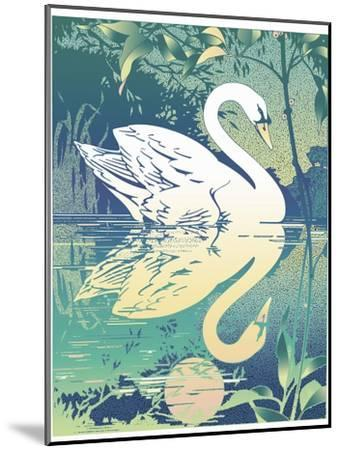 Swan-David Chestnutt-Mounted Giclee Print