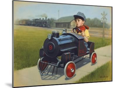 Train-David Lindsley-Mounted Giclee Print