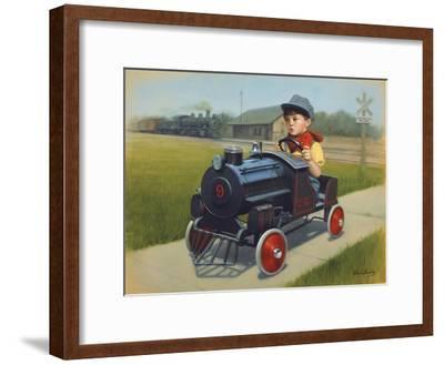 Train-David Lindsley-Framed Giclee Print