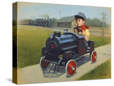 Train-David Lindsley-Stretched Canvas Print