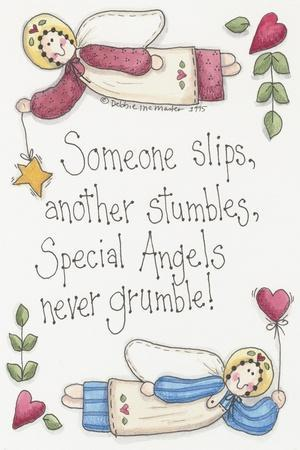 Angels Never Grumble-Debbie McMaster-Stretched Canvas Print