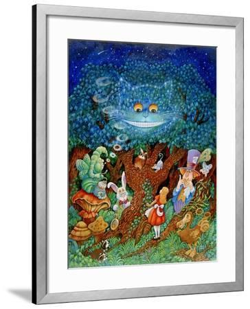 Alice and the Cheshire Cat-Bill Bell-Framed Giclee Print