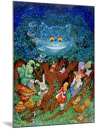 Alice and the Cheshire Cat-Bill Bell-Mounted Giclee Print