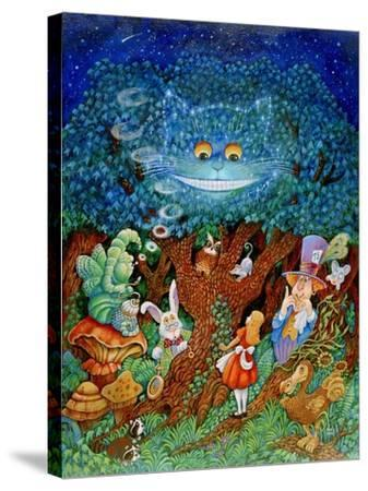 Alice and the Cheshire Cat-Bill Bell-Stretched Canvas Print