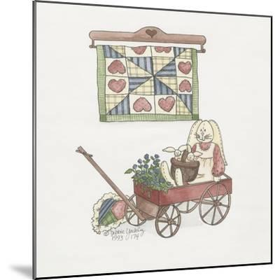Bunny in Wagon-Debbie McMaster-Mounted Giclee Print