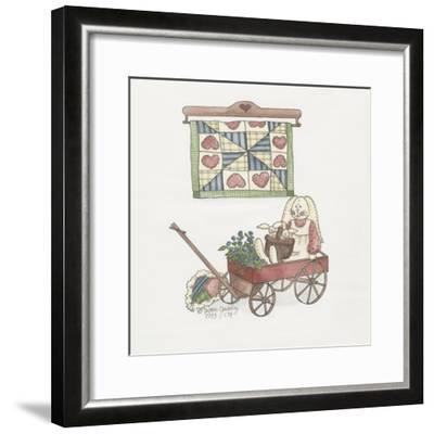 Bunny in Wagon-Debbie McMaster-Framed Giclee Print
