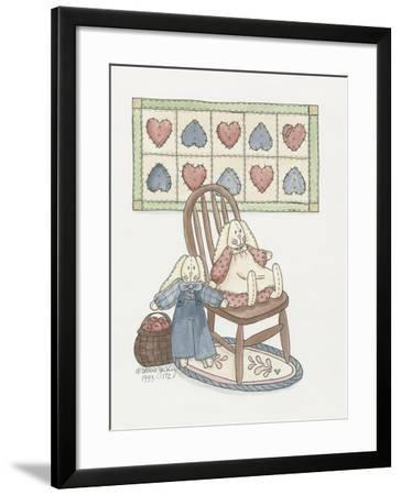 Bunnies with Chair-Debbie McMaster-Framed Giclee Print