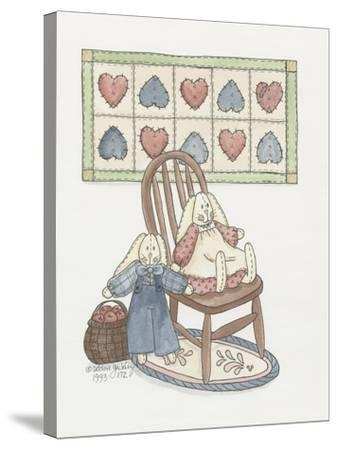 Bunnies with Chair-Debbie McMaster-Stretched Canvas Print