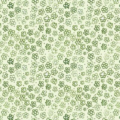 Green Freehand Flowers on Mint-Effie Zafiropoulou-Framed Giclee Print