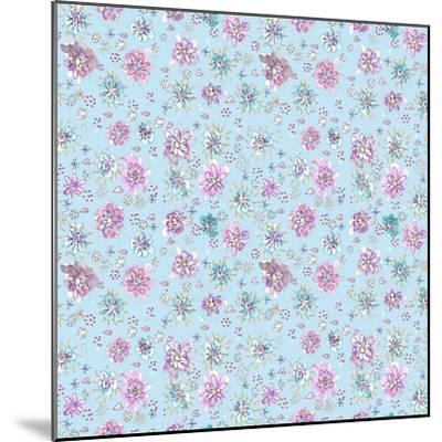 Lilac Flowers on Sky Blue-Effie Zafiropoulou-Mounted Giclee Print